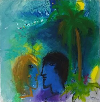 """Billede af Adi Holzer maleriet """"Nice Rendevouz in Nice"""""""