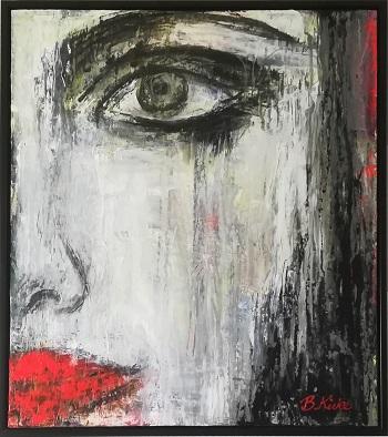 """Billede af Birgit Kirke maleri """"Røde Læber"""""""