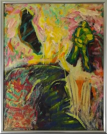 """Billede af Gert Rune Sundien maleriet """"Kaos"""""""