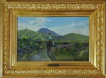 """Billede af Holger H Jerichau maleriet """"Italiensk Landskab"""""""