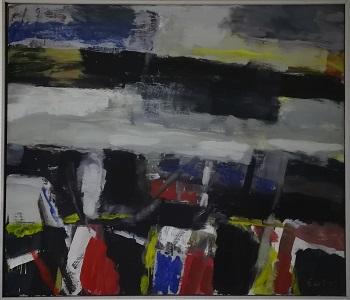 """Billede af Ingálvur av Reyni maleriet """"Et Fjeld Motiv"""""""