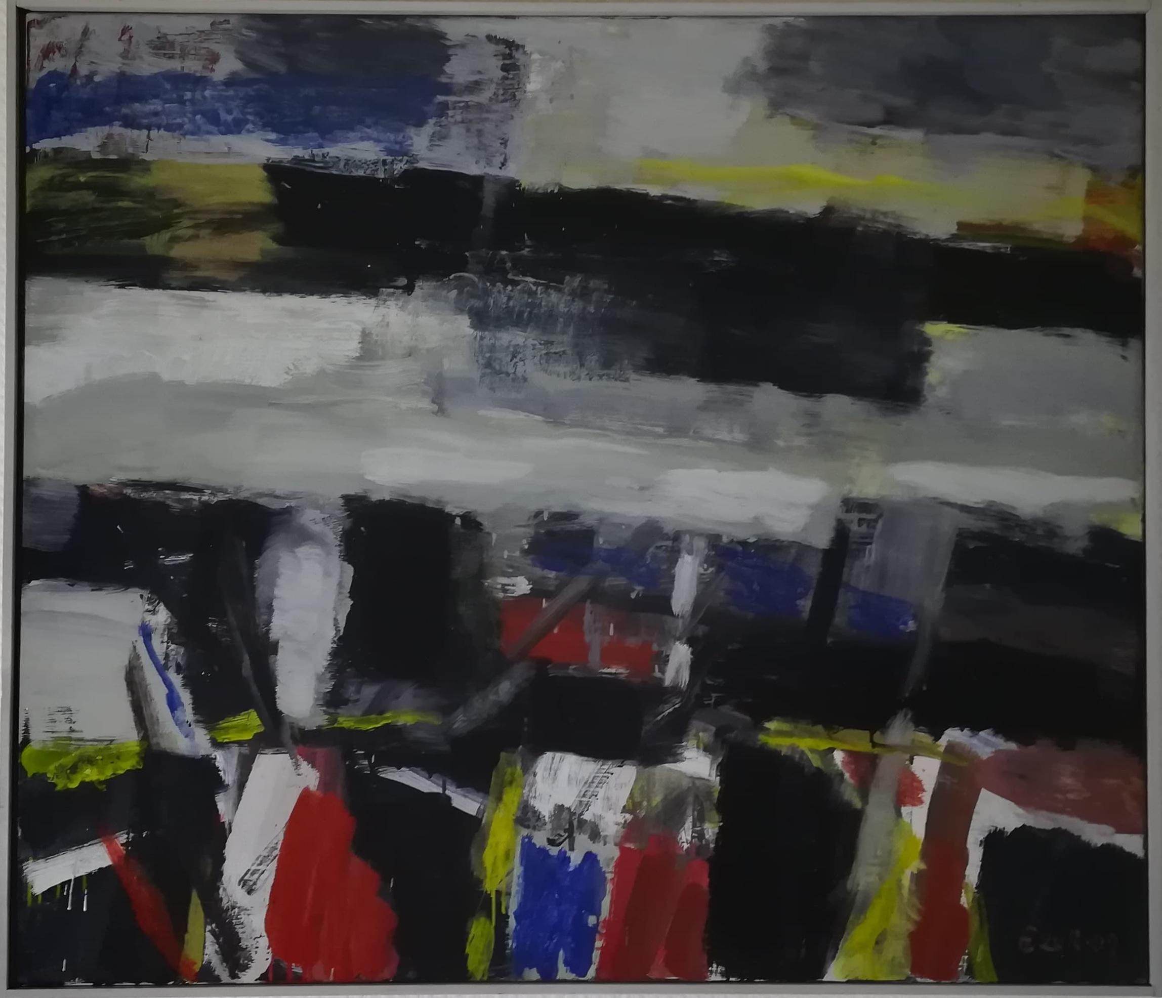 "Billede af Ingálvur av Reyni maleri ""Et Fjeld Motiv"""