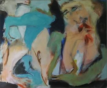 """Billede af Inge Hørup maleriet """"Pale Rose"""""""