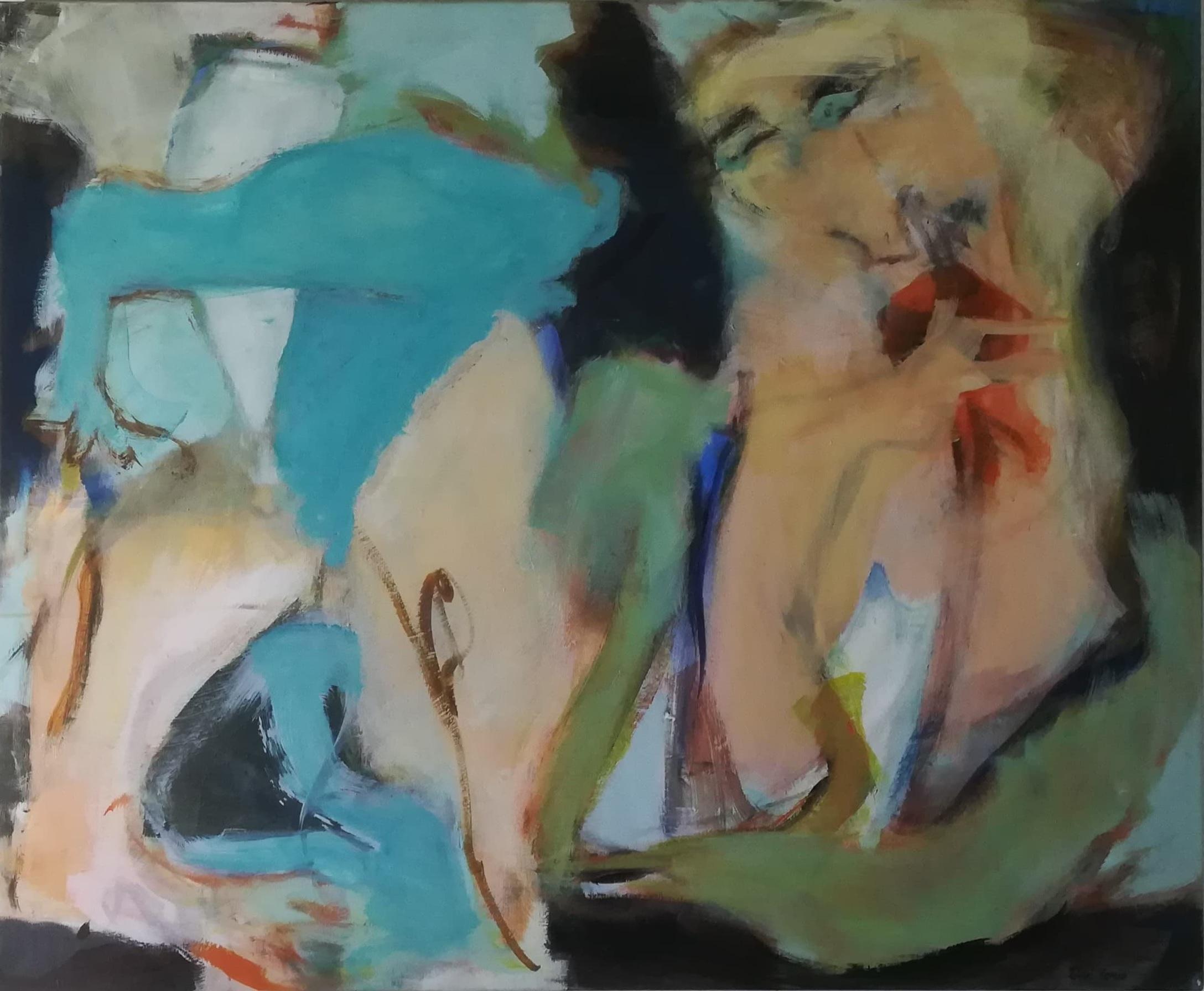 """Billede af Inge Hørup maleri """"Pale Rose"""""""