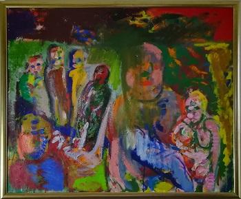 Billede af Jørgen Teik Hansen maleriet
