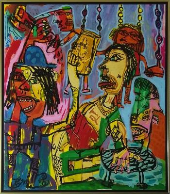 """Billede af Jesper Knudsen maleriet """"Life of The Party"""""""