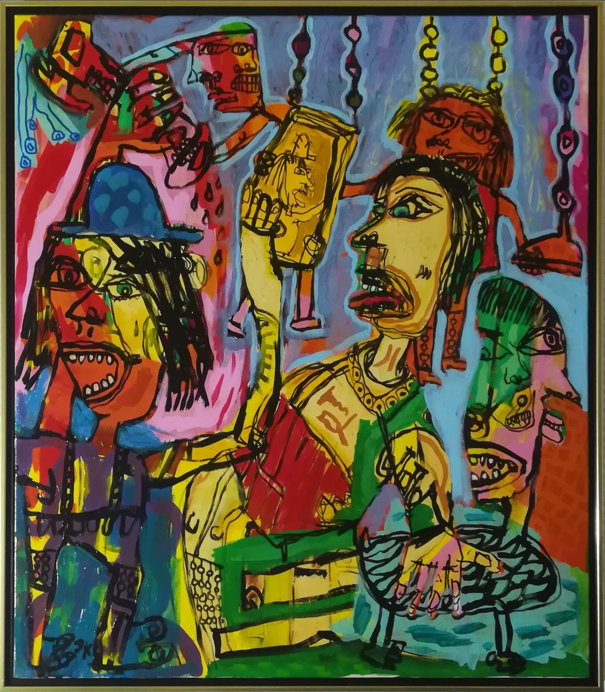 """Billede af Jesper Knudsen maleri """"Life of The Party"""""""