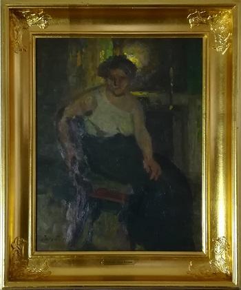 "Billede af Julius Paulsen maleriet ""Modellen"""