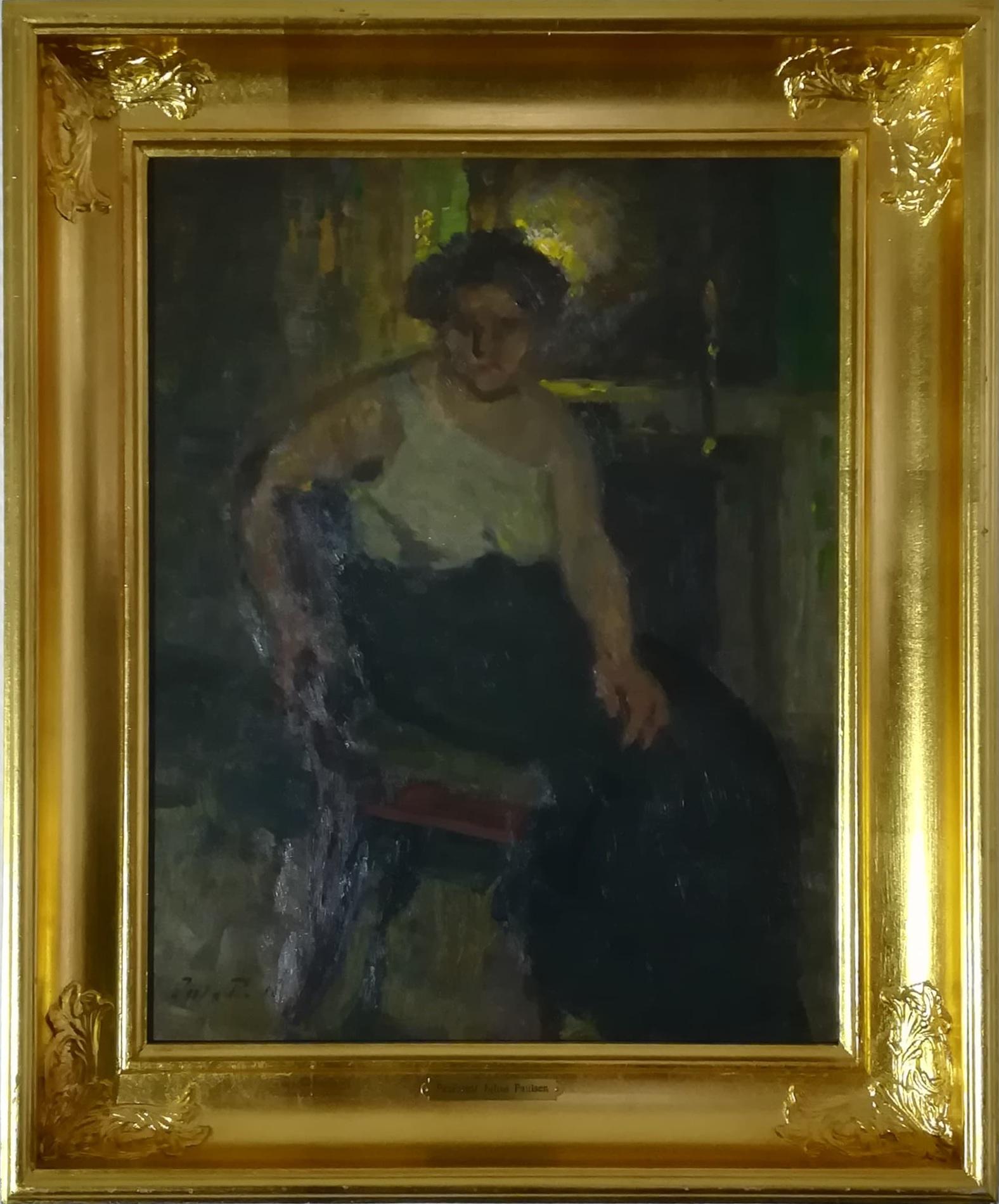 """Billede af Julius Paulsen maleri """"Modellen"""""""
