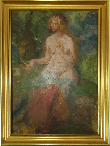 "Billede af Julius Paulsen maleriet ""Model (Kirsten)"""