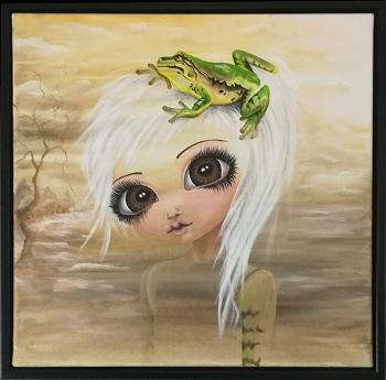 """Billede af Lo Maalue Lynghøj maleriet """"A Little Friend"""""""