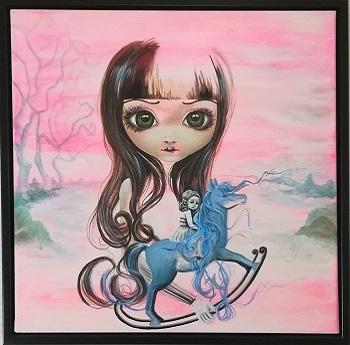 """Billede af Lo Maalue Lynghøj maleriet """"Ever Since I Was A Girl"""""""