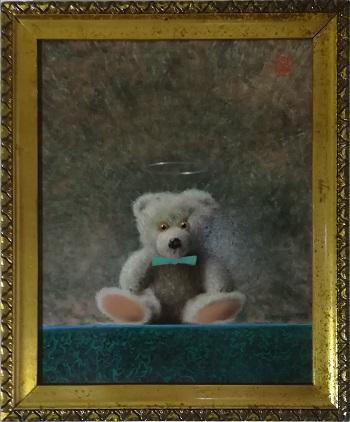 """Billede af Niels Erik Skovballe maleriet """"Bamse Icon 2"""""""