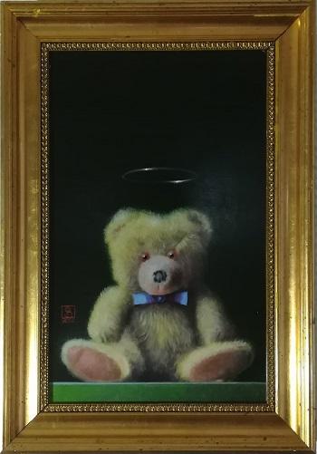 """Billede af Niels Erik Skovballe maleriet """"Bamse Icon"""""""