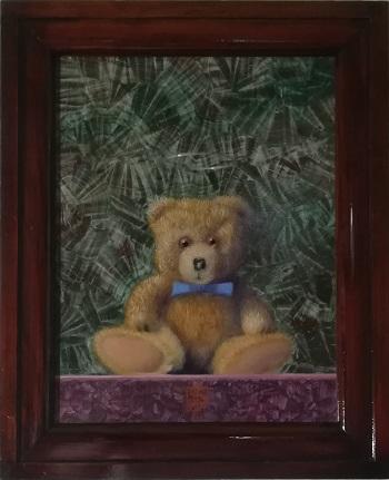 """Billede af Niels Erik Skovballe maleriet """"How I can Bear"""" Brun"""
