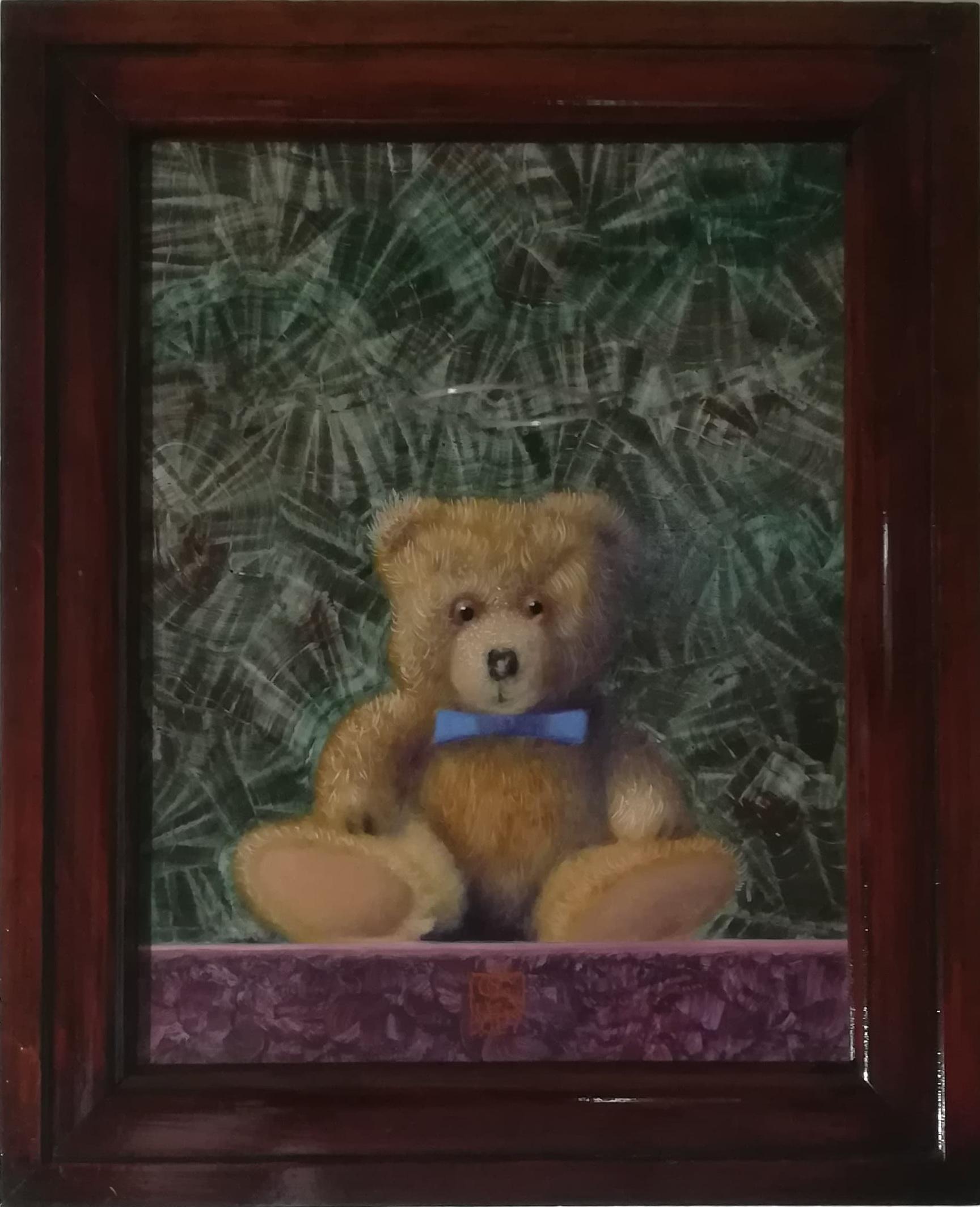"""Billede af Niels Erik Skovballe maleri """"How I can Bear"""" Brun"""