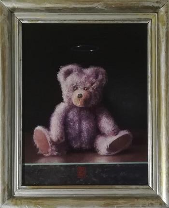 """Billede af Niels Erik Skovballe maleriet """"How I can Bear"""" Sølv"""