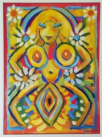 """Billede af Peter Chris maleriet """"Erotisk Komposition"""""""