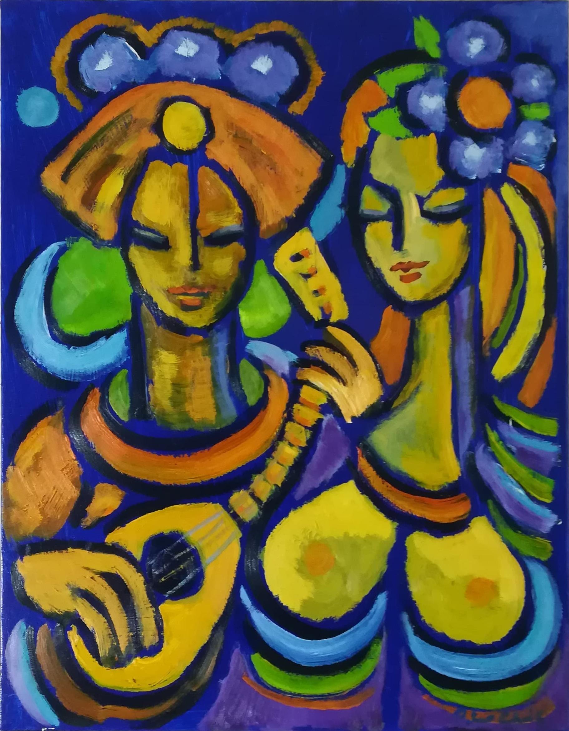 """Billede af Peter Chris maleri """"Mandolin"""""""
