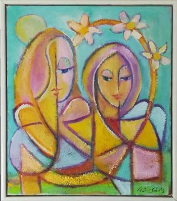 """Billede af Peter Chris maleriet """"Melankoli"""""""