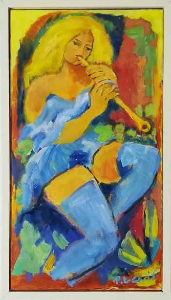 """Billede af Peter Chris maleriet """"Model 1"""""""
