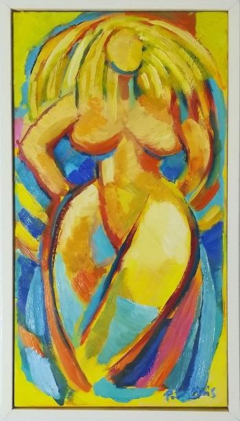 """Billede af Peter Chris maleriet """"Model 2"""""""