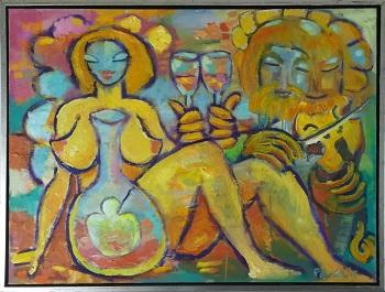 """Billede af Peter Chris maleriet """"Skål"""""""