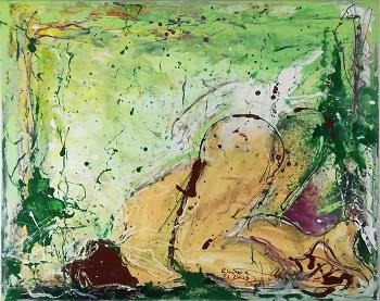 """Billede af Rene Lacroix og John Hansen kunstværket """"Erotiske Landskaber 3"""""""