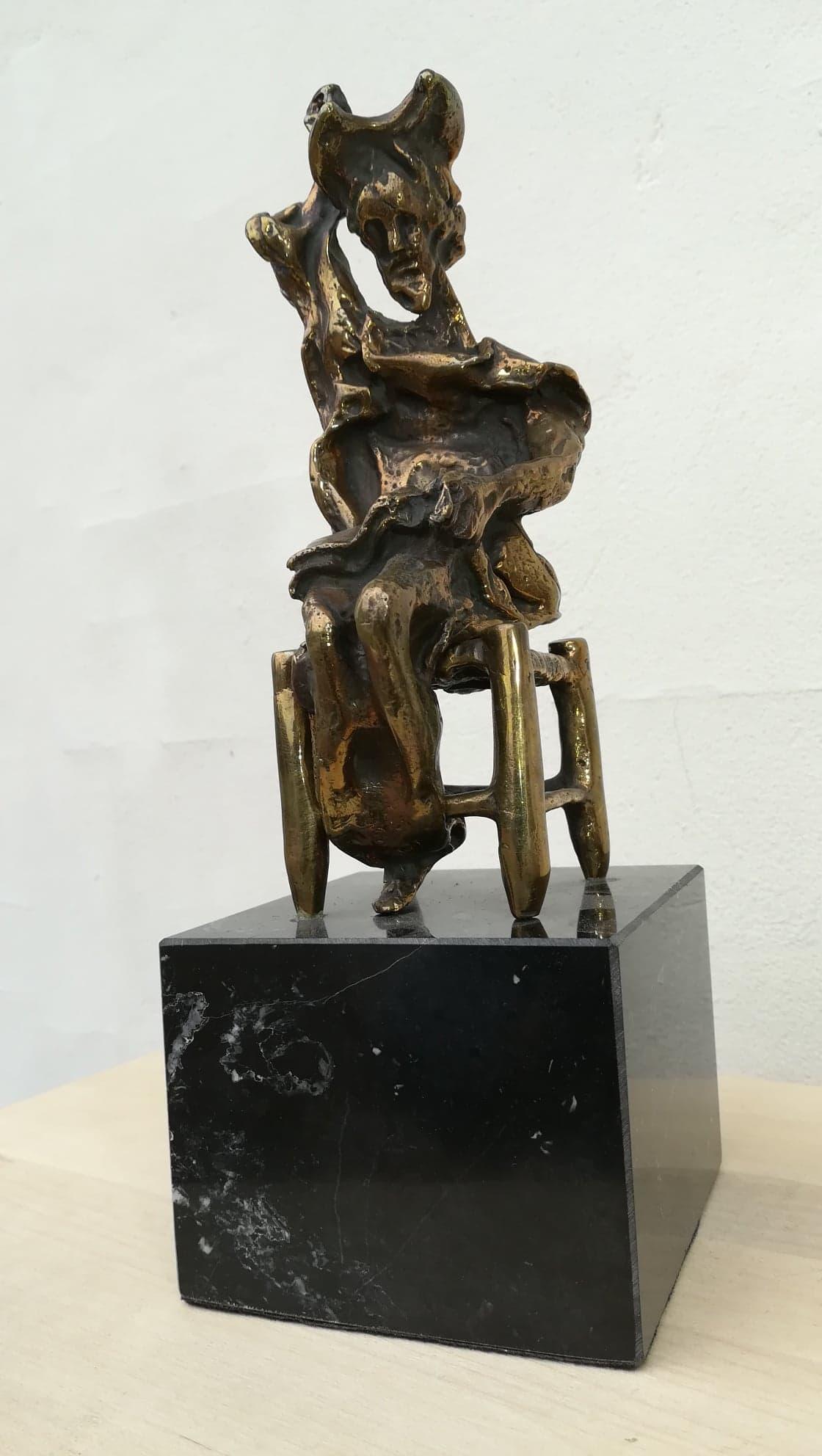 Billede af Salvador Dali bronzeskulptur Don Quixote Siddende nr. 50 / 350