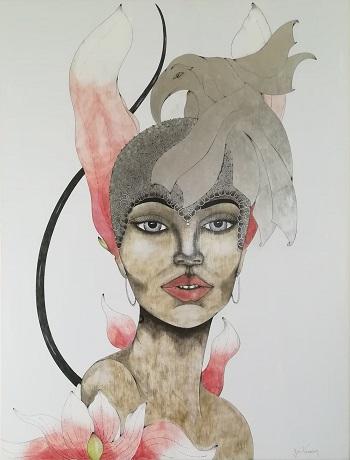 Billede af Sussi Trampedach maleriet 4