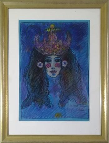 """Billede af Torben Bohse maleriet """"Nattens Dronning"""""""