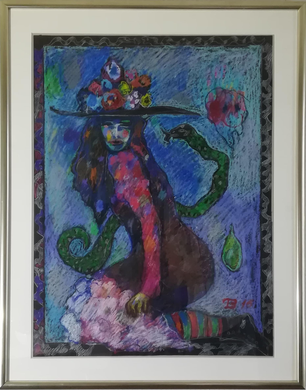 """Billede af Torben Bohse maleri """"Slangepigen"""""""