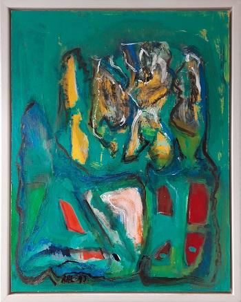 """Alfred H. Lilliendahl """"Komposition 1"""" kunstværket"""