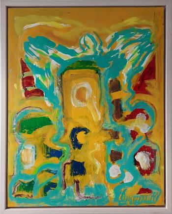 """Alfred H. Lilliendahl """"Komposition 2"""" kunstværket"""