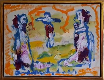 """Anton Heyboer """"Three Wives"""" kunstværket"""