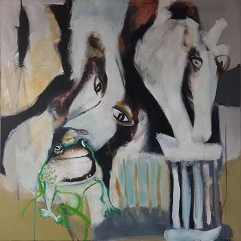 """Inge Hørup """"Kyssescene"""" kunstværket"""