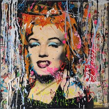 "Jan Klein ""Marilyn Monroe 2"" kunstværket"