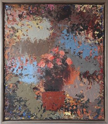 """Lars Dan """"Blomster i vase"""" kunstværket"""