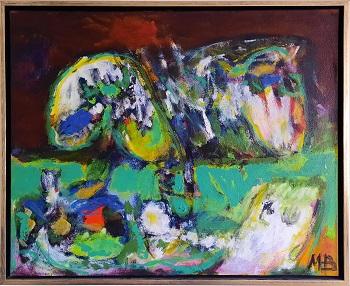 """Mogens Balle """"Figurer i landskab"""" kunstværket"""