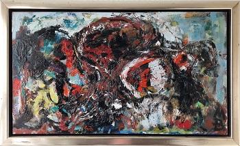 """Mogens Balle """"Figurkomposition 2"""" kunstværket"""