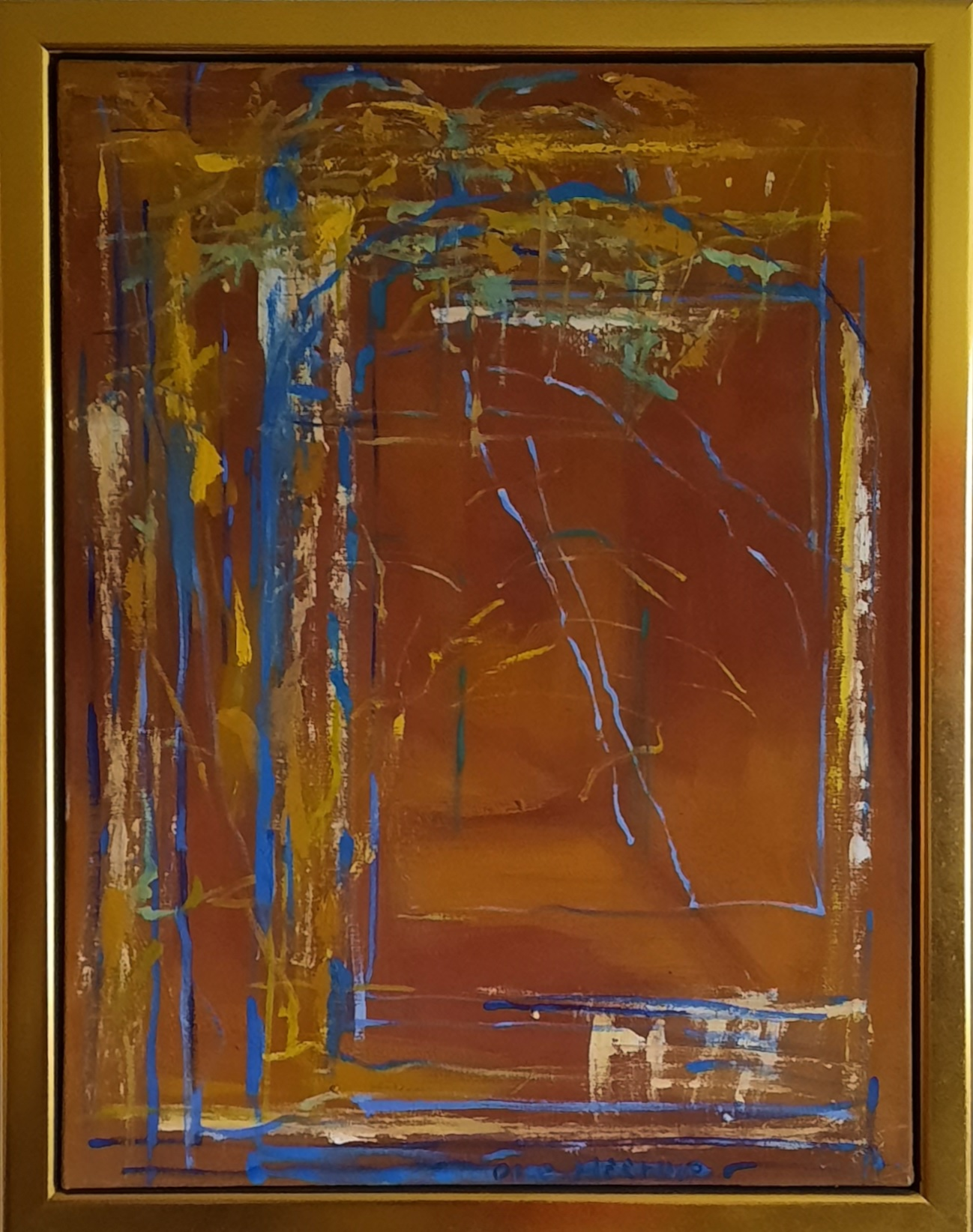 """Ole Heerup """"Efterårslys"""" kunstværk"""