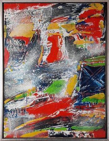"""Peter Nyborg """"The Raven Banner"""" kunstværket"""