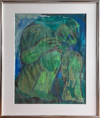 """Svend Wiig Hansen """"Original Akvarel"""" kunstværket"""