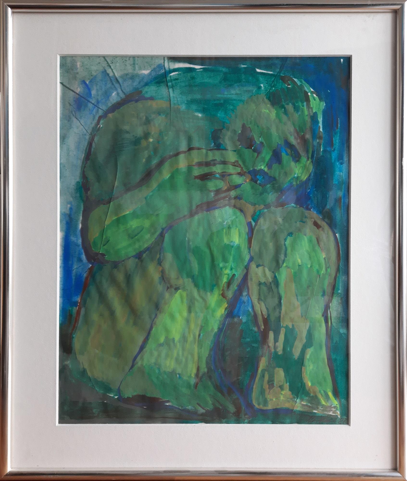 """Svend Wiig Hansen """"Original Akvarel"""" kunstværk"""