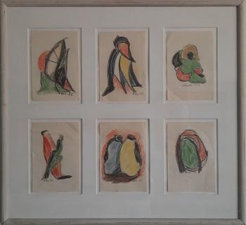 """Alfred H. Lilliendahl """"Oliekridt tegninger"""" kunstværket"""