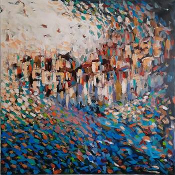 "Hani Arsan ""By i mellemøsten"" kunst"