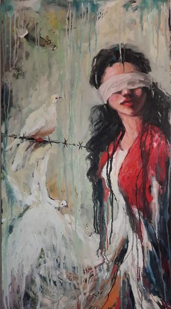 """Hani Arsan """"Freds duer"""" kunst"""