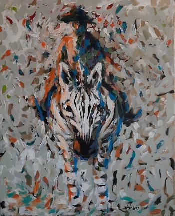 "Hani Arsan ""The Donkeyman"" kunst"